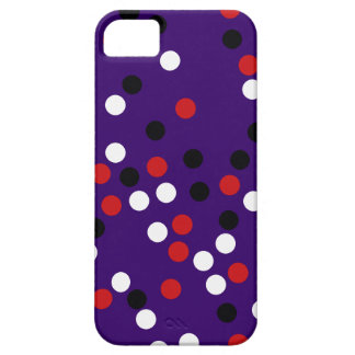 lunares blancos rojos negros iPhone 5 fundas