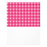 Lunares blancos rosados tarjeta publicitaria