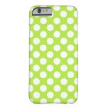 Lunares blancos verdes - iPhone 6 Covercase