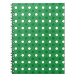 Lunares blancos verdes libro de apuntes con espiral