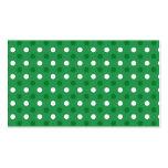 Lunares blancos verdes tarjeta de negocio