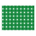 Lunares blancos verdes tarjeta postal