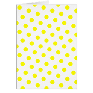 Lunares blancos y amarillos tarjetas