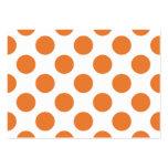 Lunares blancos y anaranjados plantilla de tarjeta de visita