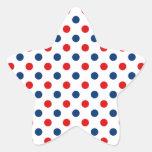 Lunares blancos y azules rojos colcomanias forma de estrellaes