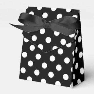 Lunares blancos y negros caja para regalos