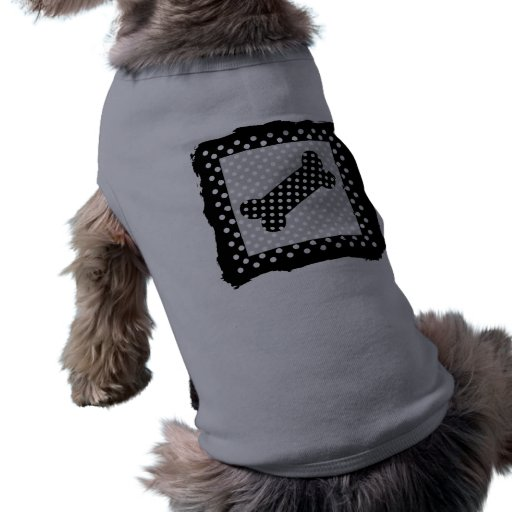 Lunares blancos y negros camiseta de mascota