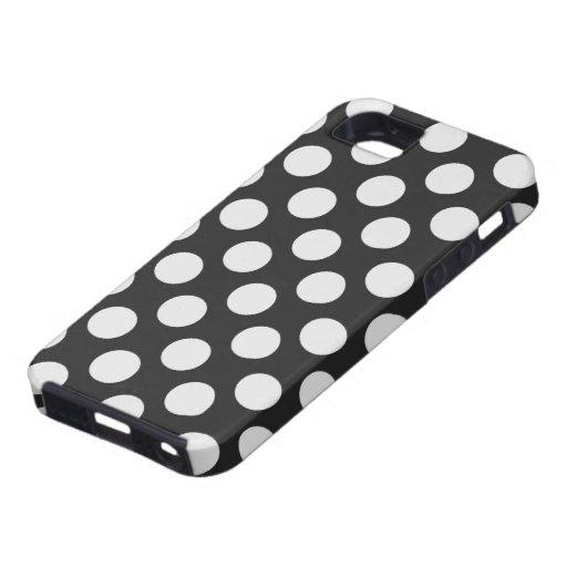 Lunares blancos y negros funda para iPhone 5 tough