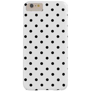 Lunares blancos y negros funda para iPhone 6 plus barely there
