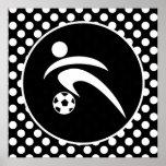 Lunares blancos y negros; Fútbol Poster