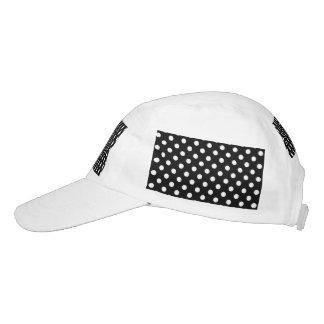 Lunares blancos y negros gorra de alto rendimiento