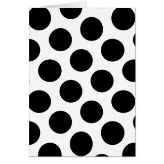 Lunares blancos y negros grandes tarjeta