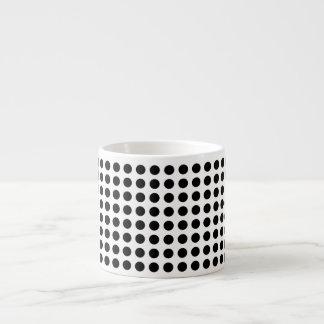 Lunares blancos y negros modernos intrépidos taza espresso