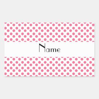 Lunares blancos y rosados conocidos personalizados rectangular altavoz