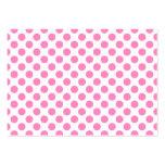 Lunares blancos y rosados tarjetas de visita grandes