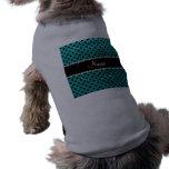 Lunares brillantes conocidos de encargo del negro  ropa para mascota