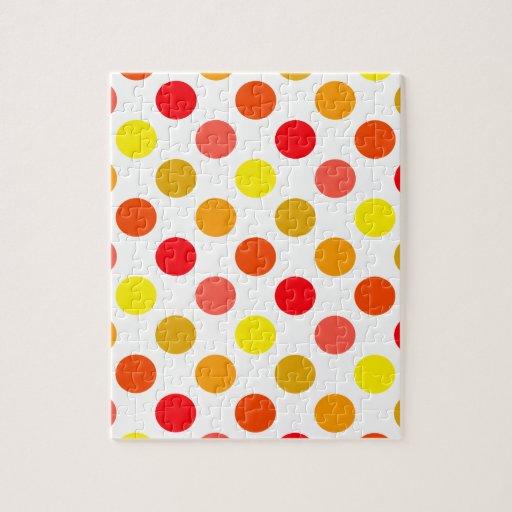 Lunares brillantes de la ráfaga de la fruta cítric puzzle con fotos