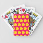 Lunares brillantes del rosa y del oro baraja de cartas