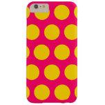 Lunares brillantes del rosa y del oro funda de iPhone 6 plus barely there