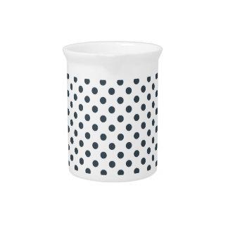 Lunares - carbón de leña en blanco jarron