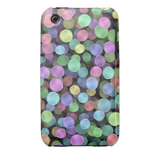 Lunares chispeantes del arco iris iPhone 3 carcasas