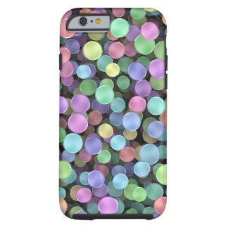Lunares chispeantes del arco iris funda de iPhone 6 tough