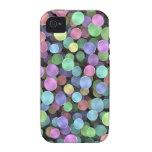 Lunares chispeantes del arco iris Case-Mate iPhone 4 carcasas