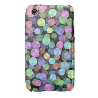 Lunares chispeantes del arco iris iPhone 3 Case-Mate cobertura