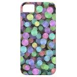 Lunares chispeantes del arco iris iPhone 5 fundas