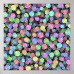 Lunares chispeantes del arco iris poster