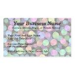 Lunares chispeantes del arco iris plantillas de tarjeta de negocio