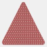 Lunares color de rosa y blancos calcomanías de trianguladas