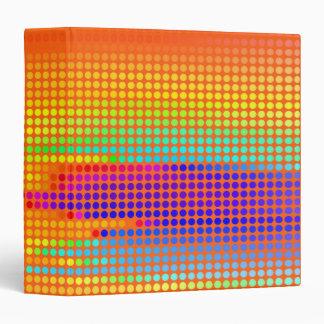 """Lunares coloreados arco iris sobre fondo amarillo carpeta 1 1/2"""""""