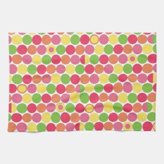Lunares coloreados multi de la diversión toallas de cocina