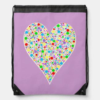 Lunares coloreados multi del arco iris de la forma mochilas
