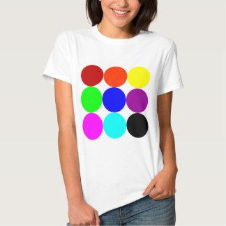 Lunares coloreados playeras