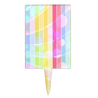 Lunares coloridos abstractos modernos de las rayas decoración de tarta