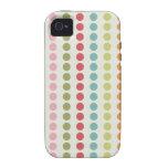 Lunares coloridos de la diversión alineados en fil iPhone 4 carcasas
