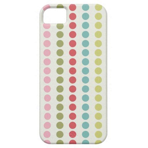 Lunares coloridos de la diversión alineados en fil iPhone 5 carcasas