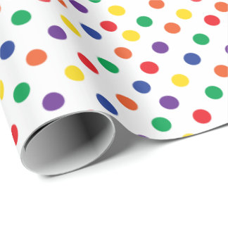 Lunares coloridos de la diversión papel de regalo
