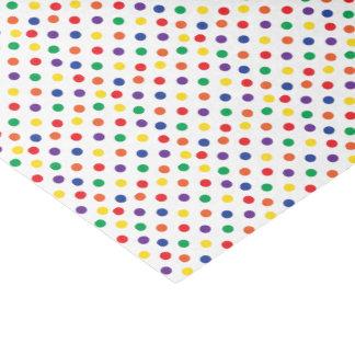 Lunares coloridos de la diversión papel de seda pequeño