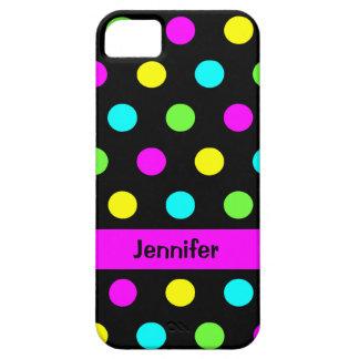 Lunares coloridos divertidos - cubierta conocida iPhone 5 fundas