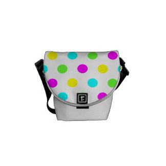 Lunares coloridos divertidos - la mini bolsa de bolsas de mensajeria