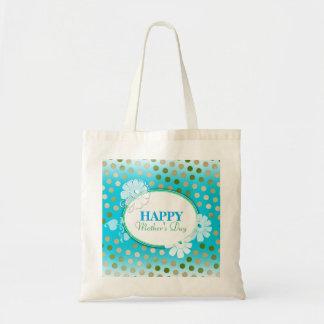 Lunares coloridos divertidos para el día de madre bolsa tela barata