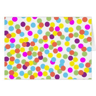 Lunares coloridos en blanco En blanco-Dentro de la Tarjeta De Felicitación
