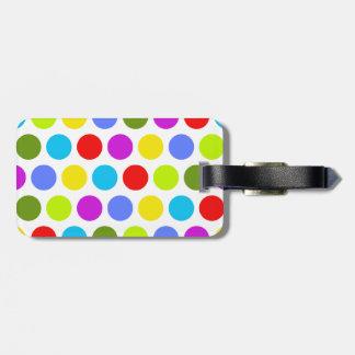 Lunares coloridos etiquetas maleta