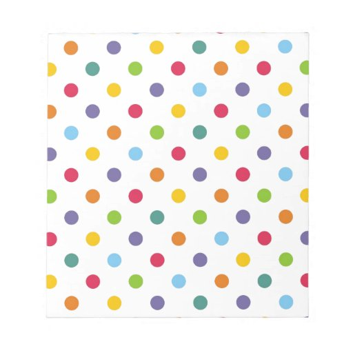 Lunares coloridos felices blocs de notas