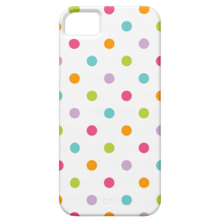 Lunares coloridos femeninos lindos iPhone 5 carcasa