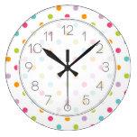Lunares coloridos femeninos lindos relojes