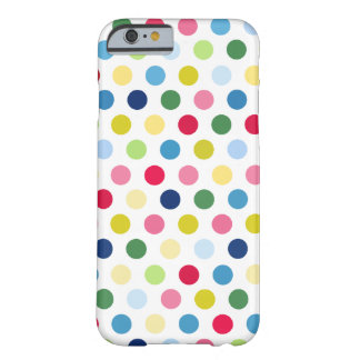 Lunares coloridos funda de iPhone 6 barely there